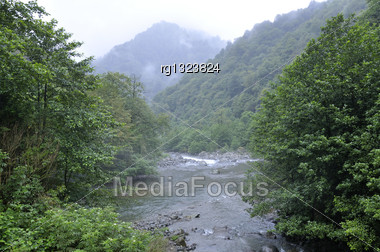 Mountain River, Landscapes Stock Photo