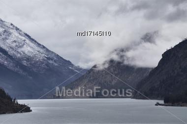 Mountains British Columbia Canada Cashe Creek Area Stock Photo