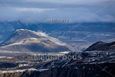 Mountains British Columbia Canada Cashe Creek Area Stock Photo