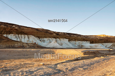 Mountains In The Desert Peninsula Mangishlak. Western Kazakhstan Stock Photo
