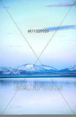 Mountains Scenic View At Sunset At Yellowstone National Park Stock Photo