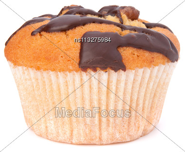 Muffin Isolated On White Background Stock Photo