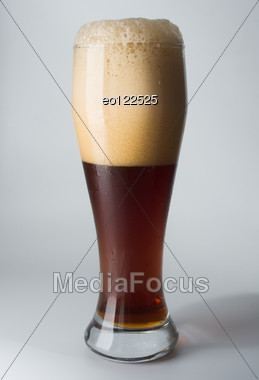 Mug, Full Of Cold Ale Beer. Isolated. Stock Photo