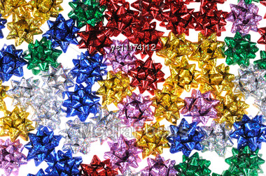 Multi-coloured Bows Stock Photo
