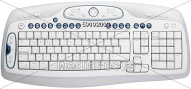 Multi-Function Computer Keyboard Stock Photo