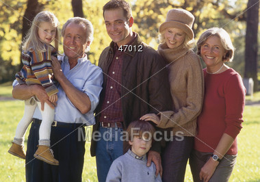 Multi-Generation Family Portrait Stock Photo