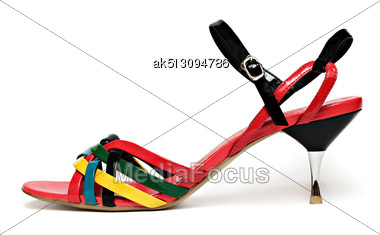 Multicolor Woman Shoe Stock Photo