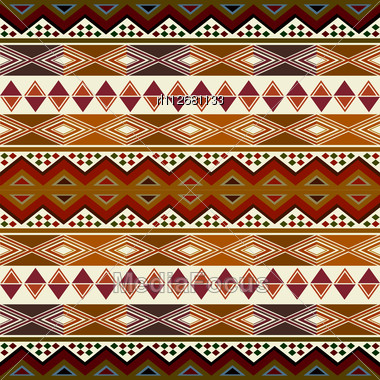Stock Photo Multicolored African Pattern Geometric Shapes Symbols
