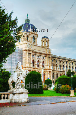 Museum Of Natural History In Vienna, Austria In The Evening Stock Photo