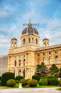 Museum Of Natural History In Vienna, Austria In The Morning Stock Photo