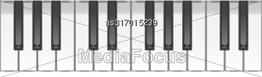 Music Background With Piano Keys. Vector Illustration Stock Photo