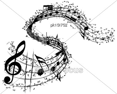 Musical Background. EPS 10 Vector Illustration Without Transparency Stock Photo