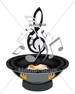 Musical Grunge Background. Vector Illustration. Stock Photo