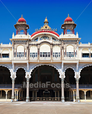 Mysore Palace, Mysore, Karnataka State, India Stock Photo