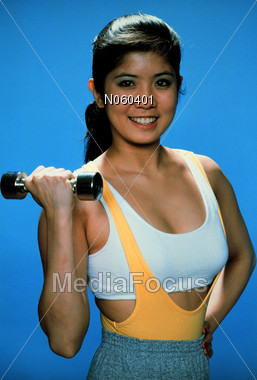 exercising fitness exercise Stock Photo