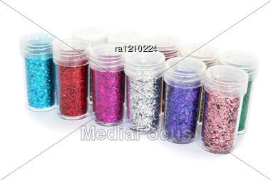 Nail Glitters Stock Photo