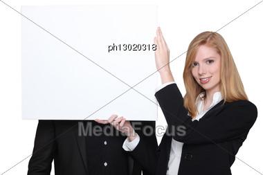 advertise advertising background blank block Stock Photo