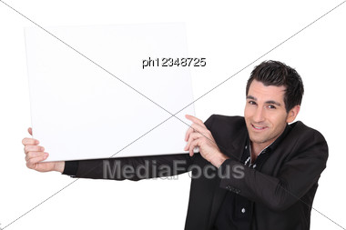 advertise announcement appeal attention attract Stock Photo