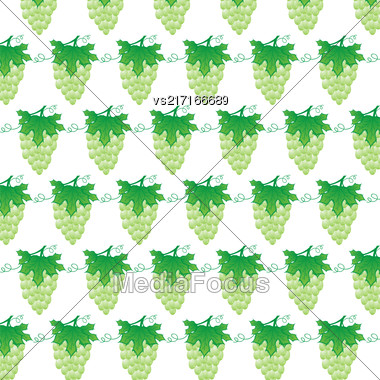 Narural Green Grapes Background. Fresh Grapes Pattern Stock Photo