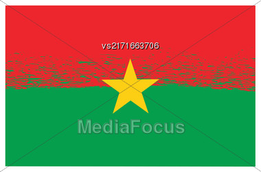 National Burkina Faso Grunge Flag Isolated On White Background Stock Photo