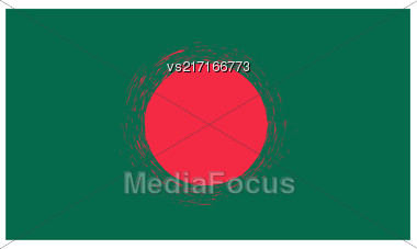 National Grunge Flag Of Bangladesh Isolated On White Background Stock Photo