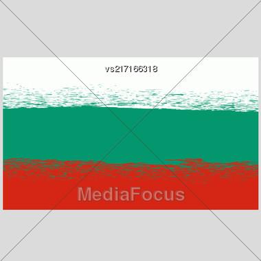 National Grunge Flag Of Bulgaria Isolated. Symbol Of Bulgarian Independence Stock Photo