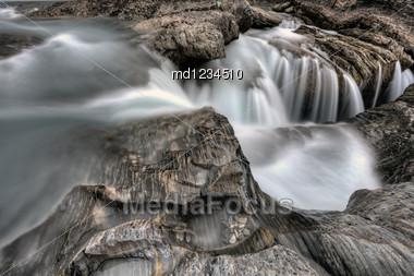 Natural Bridge Yoho National Park British Columbia Canada Stock Photo