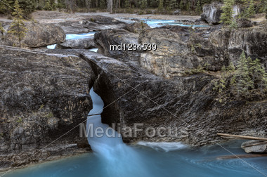 Natural Bridge Yoho National Park British Columbia Canada Stock Photo