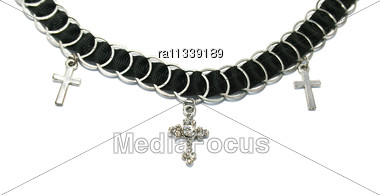 Necklace With Crosses Stock Photo