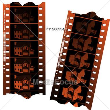 Negative Fillm Strips Stock Photo
