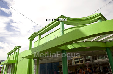 Nelson New Zealand City Downtown Commercial District Stock Photo