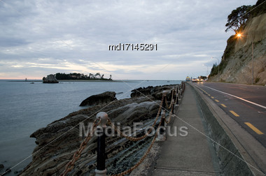 Nelson New Zealand South Island Ocean Side Stock Photo