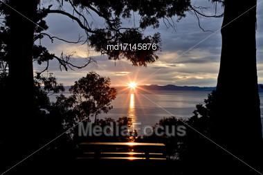 Nelson New Zealand South Island Ocean Side Stock Photo