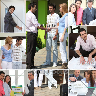 New Home Themed Collage Stock Photo