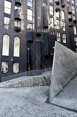 New Modern Business District In Tallinn, Estonia Stock Photo