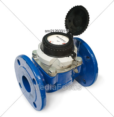 New Water Meter Stock Photo