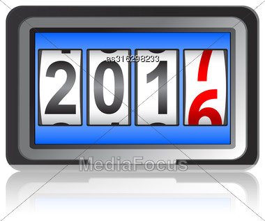 New Year 2017 Counter Vector Illustration Stock Photo