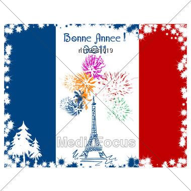 stock photo new year card france flag eiffel image rl112681019