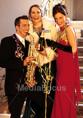 New Year's Eve Celebration Stock Photo