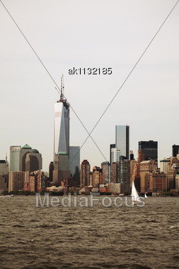 New York City On A Cloudy Day Stock Photo