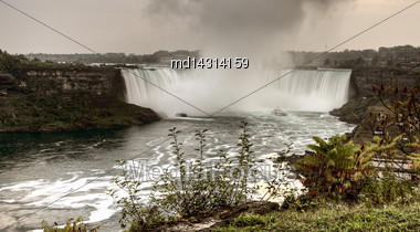 Niagara Falls Daytime Ontario New York Canada USA Stock Photo