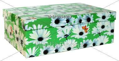 Nice Green Box Isolated On White Stock Photo