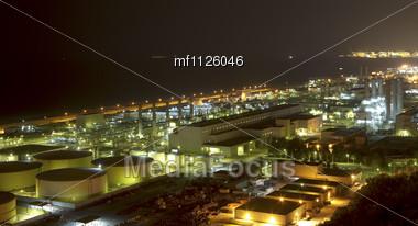 Night industry Stock Photo