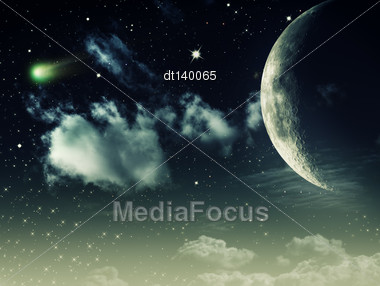 Night Skies, Abstract Environmental Backgrounds For Your Design Stock Photo