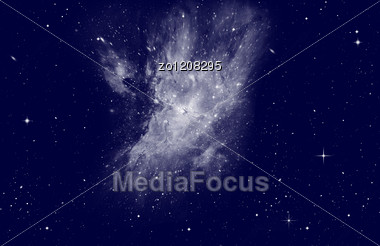 Night Sky With Stars. Stock Photo