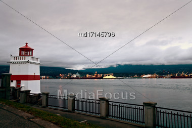 North Vancouver From Stanley Park British Columbia Canada Stock Photo