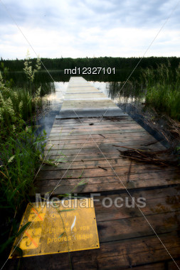 Northern Saskatchewan Lake Wilderness In Canada Calm Stock Photo