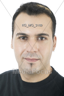 goatey ethnic 20s Stock Photo