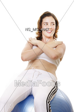 fitness relax exercise Stock Photo