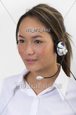 expression studio headset Stock Photo